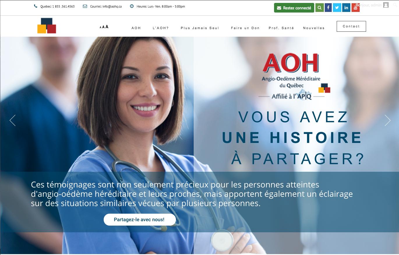 AOHQuébec Web Design